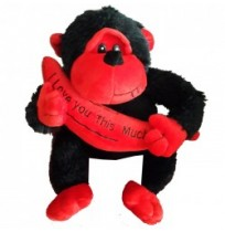 Monkey - I Love you This Much! (Black)