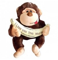 Monkey - I Love you This much! (Brown)