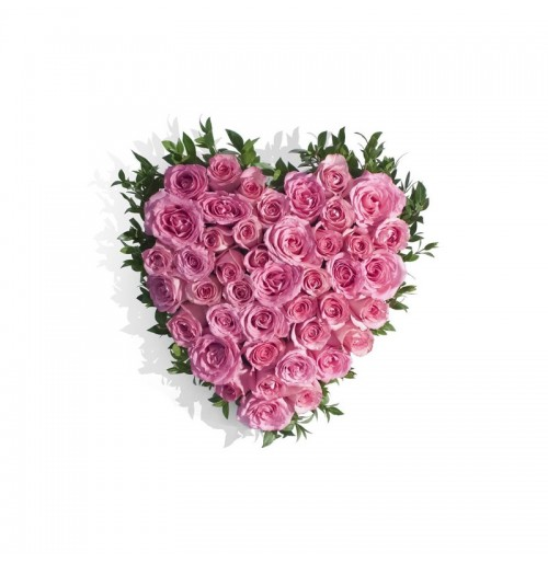 Floral boutique pink heart pink heart mightylinksfo